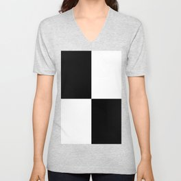 Big Mosaik black and white Unisex V-Neck