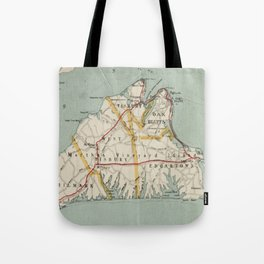 Vintage Map of Martha's Vineyard (1917) Tote Bag