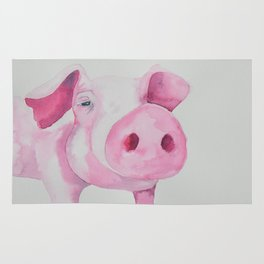 Fuchsia Piggy Rug