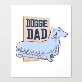 Doggie Dad - Dachshund Design Canvas Print