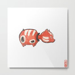 Akabeko [Special Lucky Toy Box] Metal Print