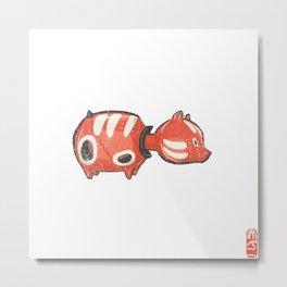 Akabeko [Special Lucky Toy Box] Metal Print