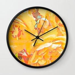 Rose in watercolor Wall Clock
