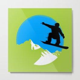 Snowboarding Metal Print