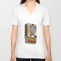 shit V-neck T-shirts featuring Burn Shit. by NVM Illustration