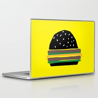 hamburger Laptop & iPad Skins featuring fastfood hamburger by lightnass