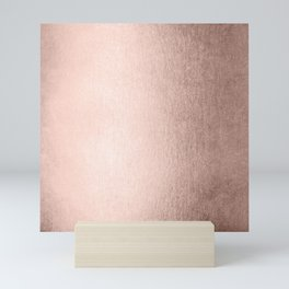 Moon Dust Rose Gold Mini Art Print