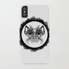 Half Hairy Angry Monkey iPhone Case