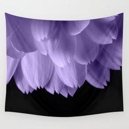 Ultra violet purple flower petals black Wall Tapestry
