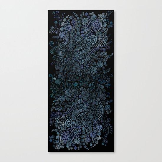 3D ornaments, blue Canvas Print