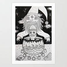 Jumped out the sorcerers cauldron. Art Print