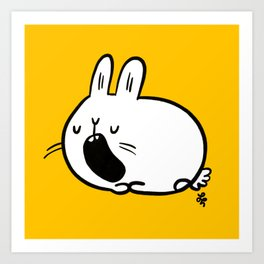 Sleepy Bunny Art Print