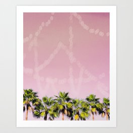 Row of Palms Art Print