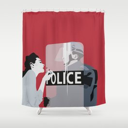Red woman n3 Shower Curtain