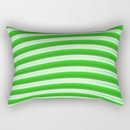Green abstract lines Rectangular Pillow
