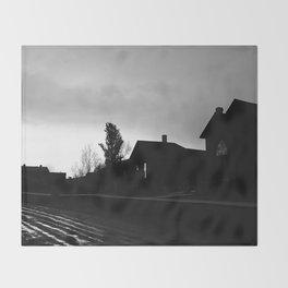 Silhouetted Stillness Throw Blanket