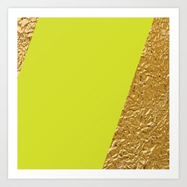 Green and Gold Art Print
