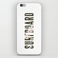 surfboard iPhone & iPod Skins featuring floral surfboard by fieldguided