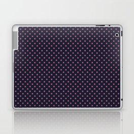 Pink dot on a blue Laptop & iPad Skin