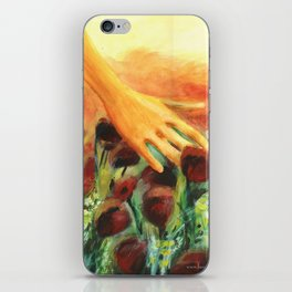 Poppy field - Original painting iPhone Skin