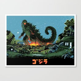 Godzilla - Blue Edition Canvas Print