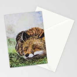 Fox Sleepeng Stationery Cards