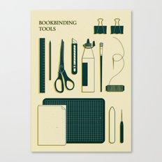 BOOKBINDING TOOLS Canvas Print