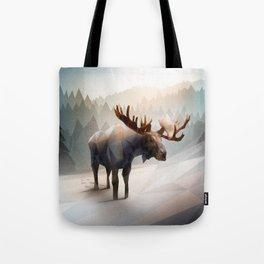 Moose (Low Poly Mystical) Tote Bag