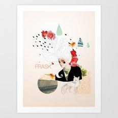 FRASK Collage Art Print