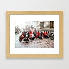 Riding In Red Framed Art Print