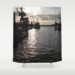 hh seaport Shower Curtain