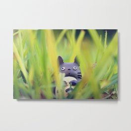 Totoro - Grass Adventure Metal Print