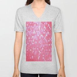 Bubblegum Pink Pixel Sparkle Unisex V-Neck