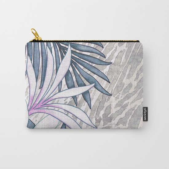Denim Blooms Forever Carry-All Pouch