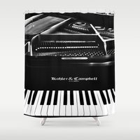 piano Shower Curtains featuring Piano  by Jessica Tuccinardi