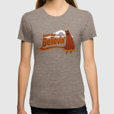 Don't Stop Believin' Womens Fitted Tee Tri-Coffee MEDIUM