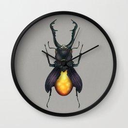 Amber Beetle Wall Clock