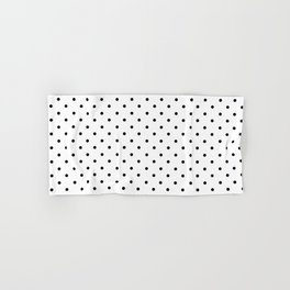 Minimal - Small black polka dots on white - Mix & Match with Simplicty of life Hand & Bath Towel
