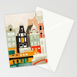 Amsterdam travel city shapes abstract Stationery Cards
