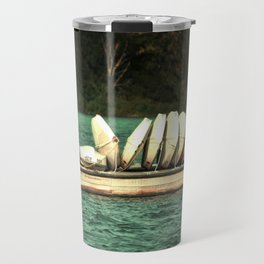 Boats on the Dock Travel Mug