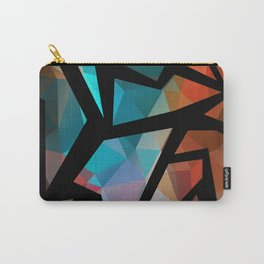 Abstract background of triangles polygon print. Carry-All Pouch