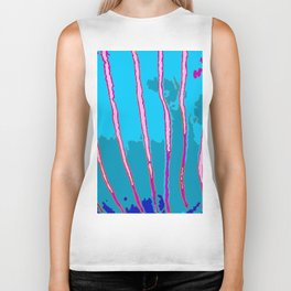 Blue Bongo Stripes Biker Tank