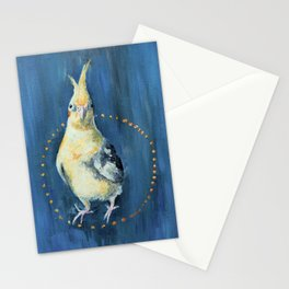 Cockatiel and Seeds Stationery Cards