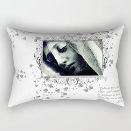 virgin veil of cobwebs Rectangular Pillow