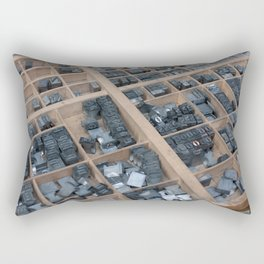 Typographic letters from Paris Rectangular Pillow