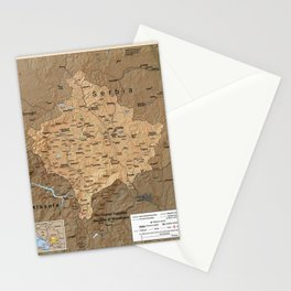 Map Of Kosovo 1999 Stationery Cards