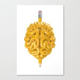 Pencil Brain Canvas Print