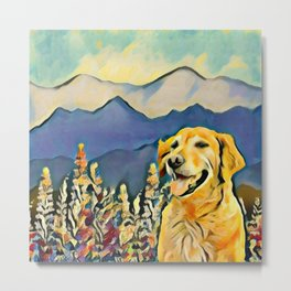 Mountain Dog 2 Metal Print