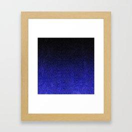 Blue & Black Glitter Gradient Framed Art Print