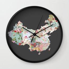 China map #2 Wall Clock
